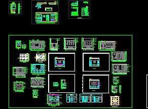 36款酒柜建筑图块
