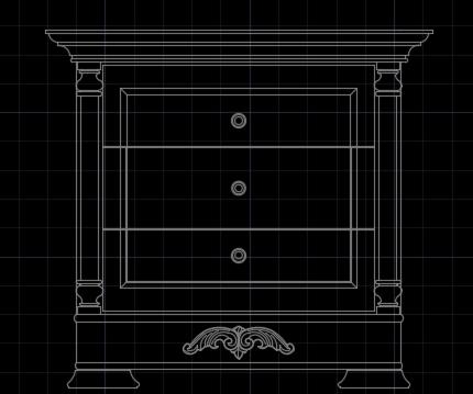 床头柜图块
