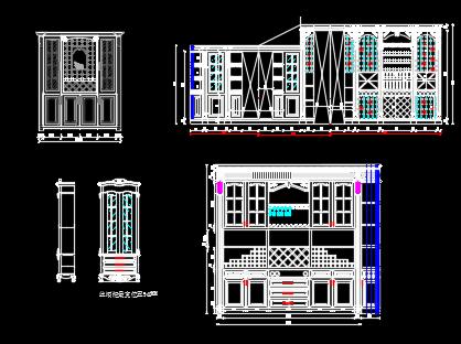 欧式酒柜设计详图