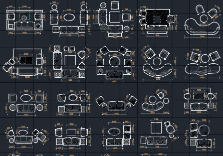 常用室内家具CAD图库