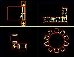 餐桌家具CAD图库