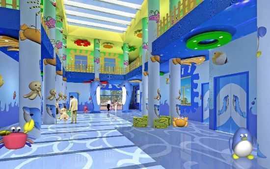 幼儿园室内设计,设计成像海洋馆一样的风格,色彩多变,符合幼儿心理