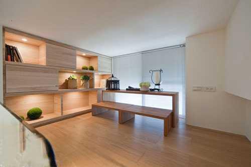 66平挑高小户型 3室2厅的清新简约家 - 装修效果图