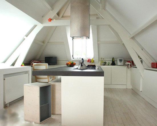 空间巧规划 8个阁楼变身厨房设计 - 装修效果图