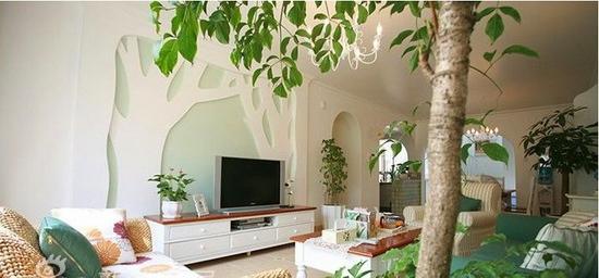 田园风格客厅电视背景墙 让家更美