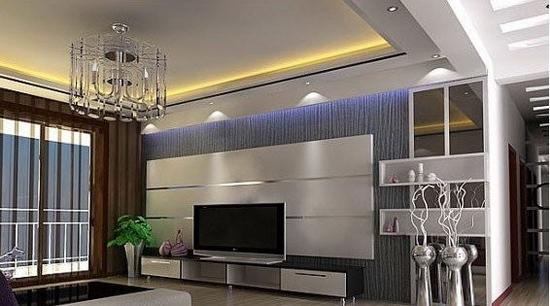 欧式客厅电视背景墙 复式的装饰借鉴