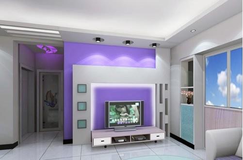 欧式客厅电视背景墙 造就简单唯美家 - 装修效果图