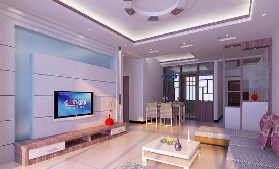 欧式客厅电视背景墙 复式的别致 - 装修效果图