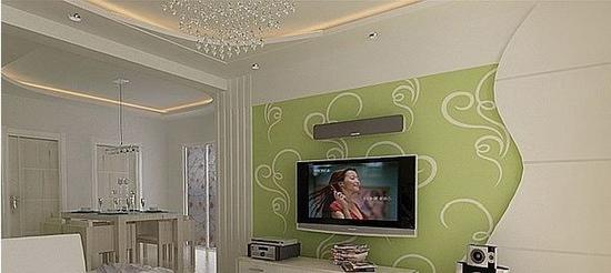 欧式客厅电视背景墙 现代家居的感觉 - 装修效果图
