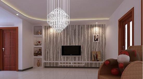 欧式客厅电视背景墙 公寓的最流行