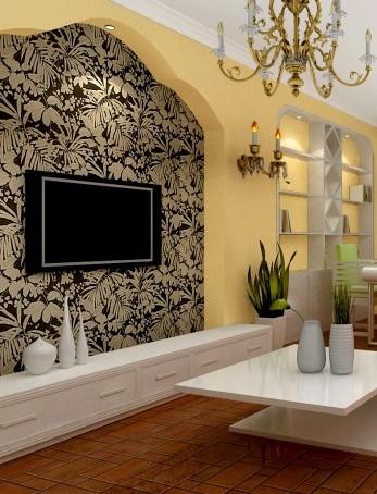 田园风格客厅电视背景墙 你会感觉到安逸