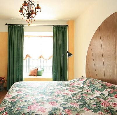 最爱自由风 飘窗窗帘设计 - 装修效果图图片