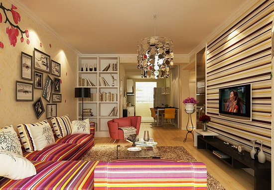 小户型客厅装修效果图 8款样板间欣赏