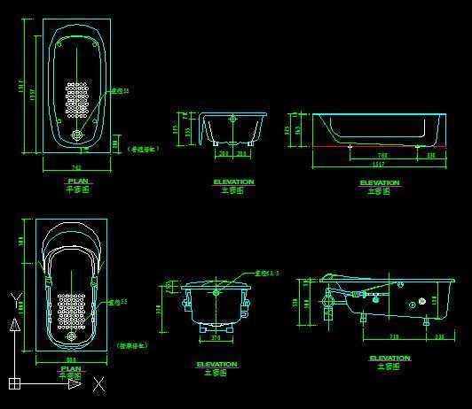 圆形浴缸立面cad_各式浴缸CAD图纸免费下载 - 装修图纸 - 土木工程网