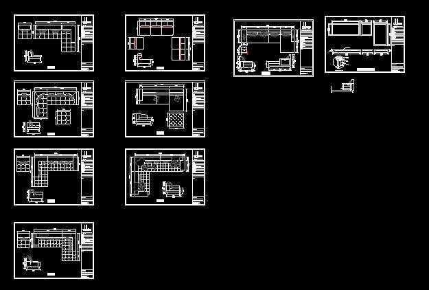 沙发尺寸图免费下载 - 装修图纸 - 土木工程网