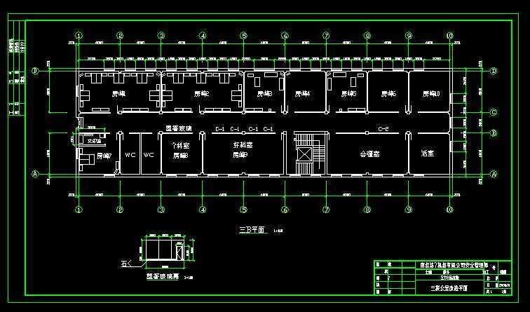 电力备品库办公室平面布置图免费下载 - 装修图纸图片