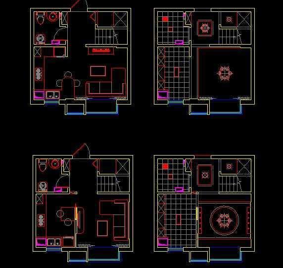 小户型跃层精装修平面设计方案