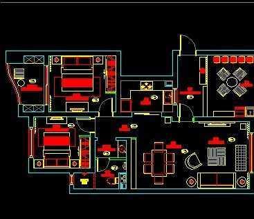 某公寓设计平面图免费下载 - 装修图纸 - 土木工程网