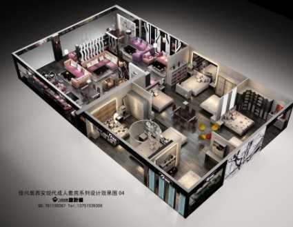 现代沙发专卖店施工图(效果图)