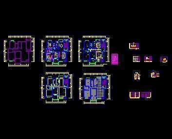 三室两厅住宅装修设计图