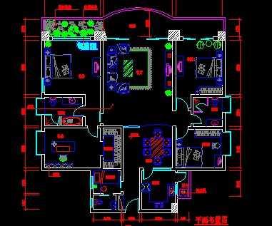 某大户型住宅室内设计平面图