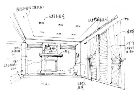 现代欧式施工图附手绘图