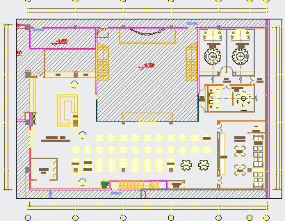 食堂改造装饰设计图纸免费下载 - 装修图纸 - 土木