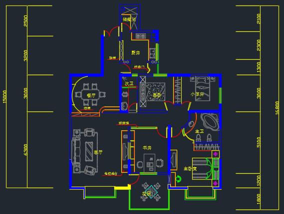 204平方米住宅装修设计图纸