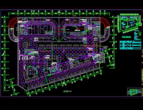 多层厂房电气设计图纸