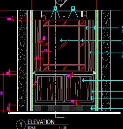 电梯骄厢装修竣工图纸