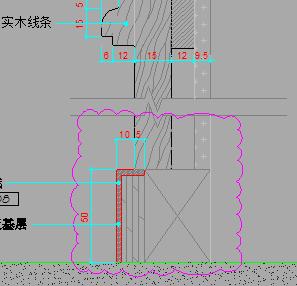 墙身木�u装饰标准节点详图