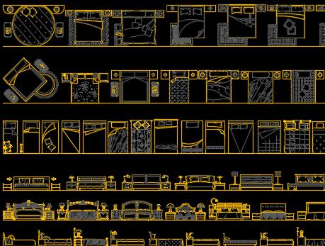 CAD装饰图库