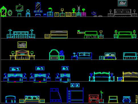 CAD室内立面图库