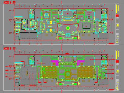 某办公楼装修全套施工图纸(含全套节点图)