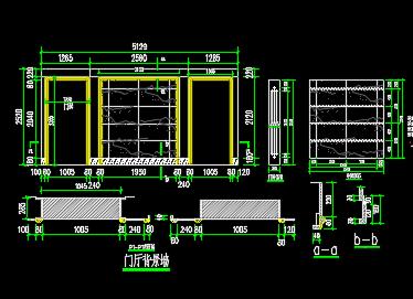 大理石电视背景墙装修设计详图