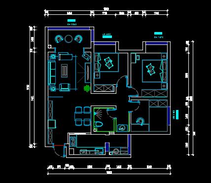 三室两厅装修施工图纸
