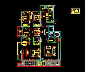 五房两厅三卫一厨五阳台住宅装修优乐娱乐图纸