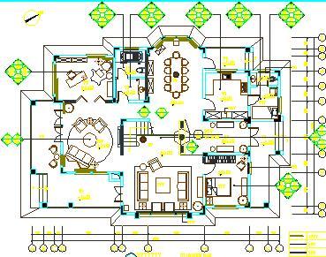 两层独栋花型样板房精装修施工别墅免费下载图纸毛线的图纸打图片