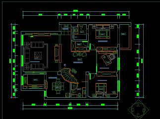 三层独栋别墅装修优乐娱乐图纸(九房三厅)