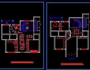 两层别墅装修施工图纸(简约风格)
