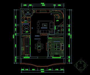 两层别墅装修施工图纸(四房三厅三卫)