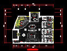 三层别墅装修施工图纸(十三房六厅)