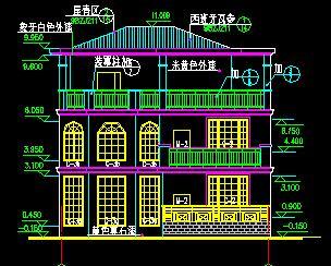 三层独栋别墅建筑施工图
