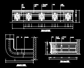 某大堂服务台装修设计图纸