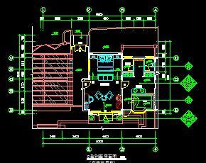 别墅二层装修施工图纸(东南亚风格)