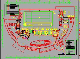 一层带地下两层会所装修施工图纸