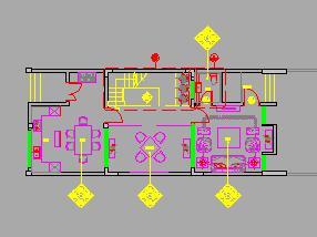 三层独栋别墅装修施工图纸(禅味风格)