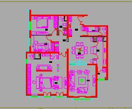 三房两厅示范住宅装修施工图纸