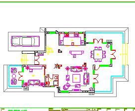 二层独栋别墅装修施工图纸(南加州风格)