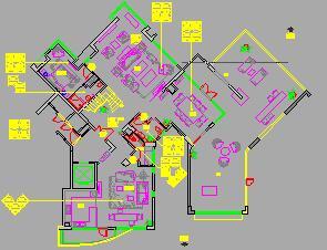 某二层独栋别墅样板房装修施工图纸